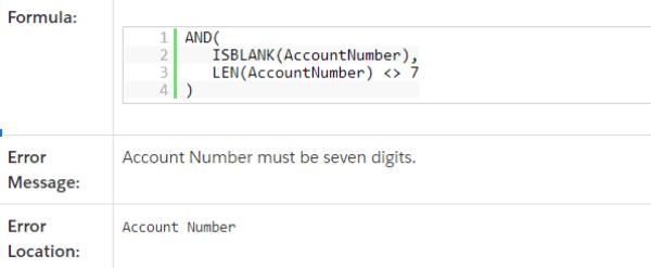 Salesforce™ Formulas Validation