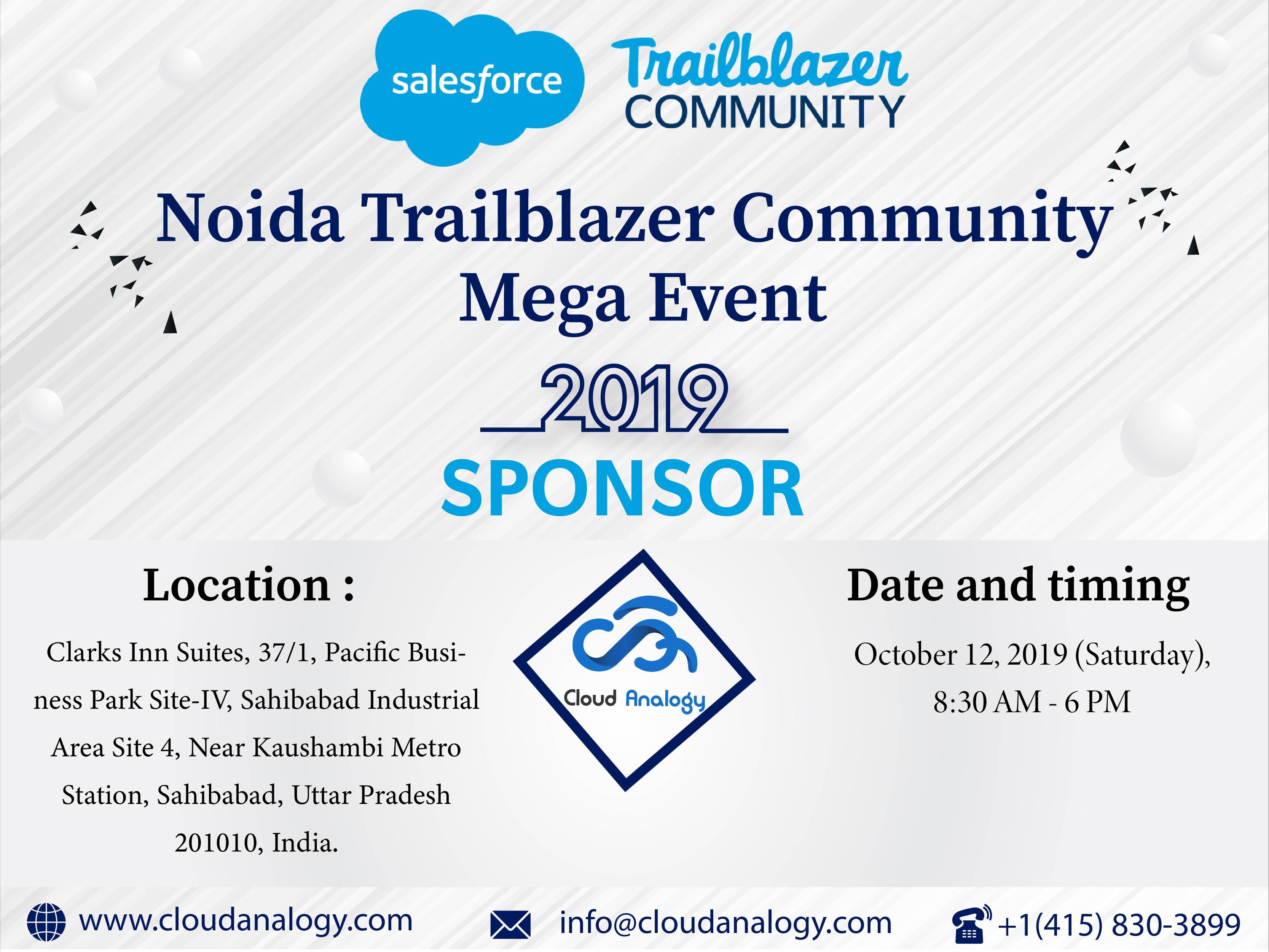 Cloud Analogy Sponsoring Noida Trailblazer Community Mega Event 2019