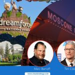 Tim Cook and Marc Benioff at Dreamforce 2019